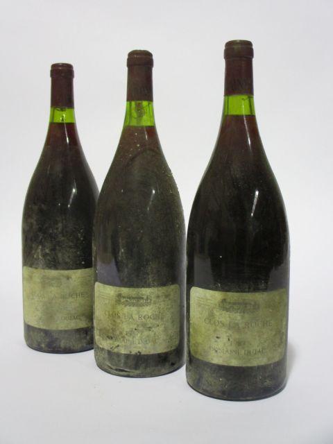 3 magnums CLOS DE LA ROCHE 1987 Grand Cru