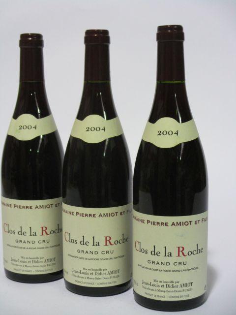 6 bouteilles CLOS DE LA ROCHE 2004 Grand Cru