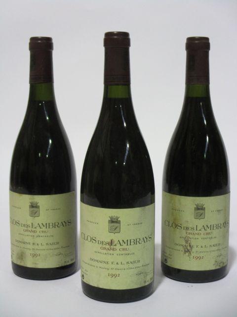 11 bouteilles CLOS DES LAMBRAYS 1992 Grand Cru