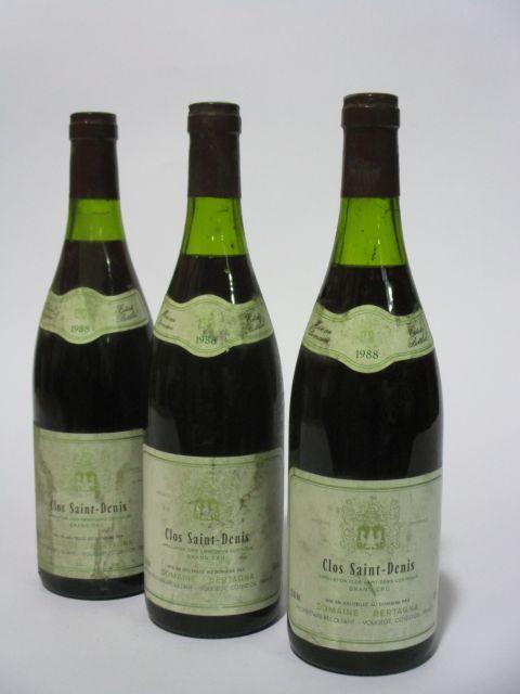 6 bouteilles CLOS SAINT DENIS 1988 Grand Cru