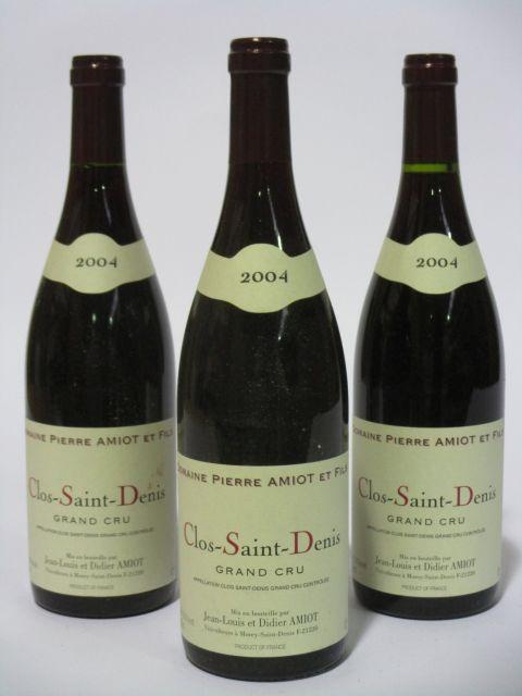 6 bouteilles CLOS SAINT DENIS 2004 Grand Cru