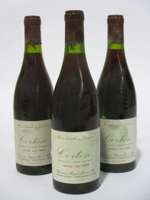 6 bouteilles CORTON 1988 Grand Cru