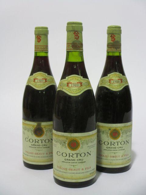 6 bouteilles CORTON 1989 Grand Cru