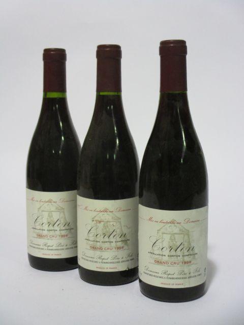 6 bouteilles CORTON 1996 Grand Cru