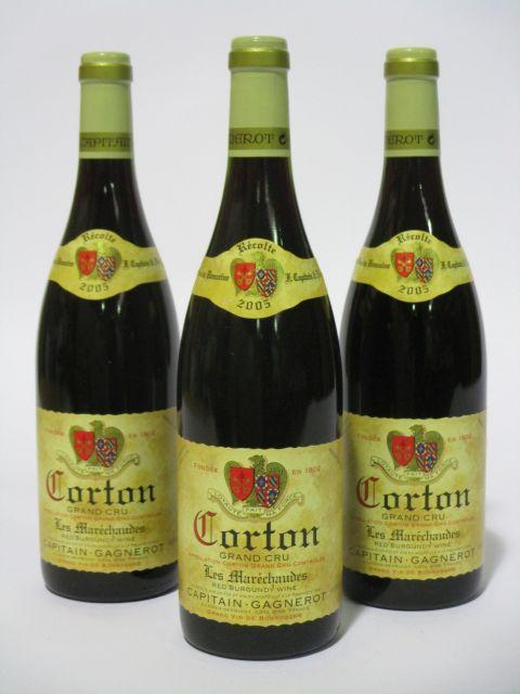 6 bouteilles CORTON 2005 Grand Cru Les Maréchaudes