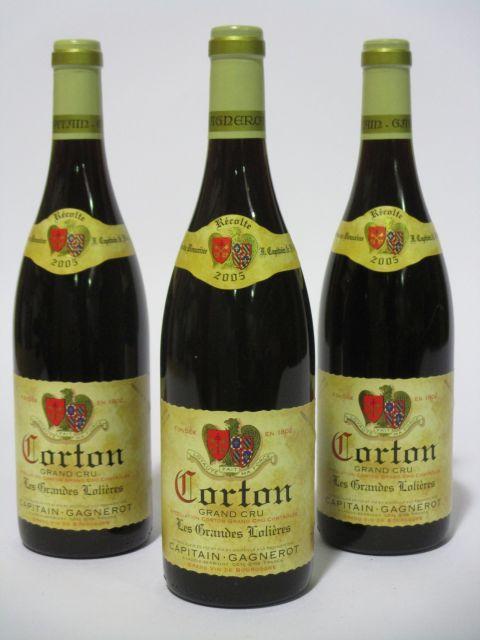 6 bouteilles CORTON 2005 Grand Cru Les Grandes Lolières