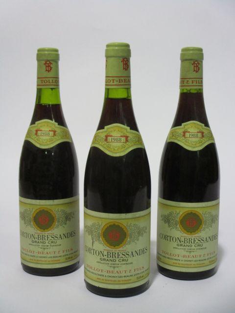 6 bouteilles CORTON BRESSANDES 1988 Grand Cru