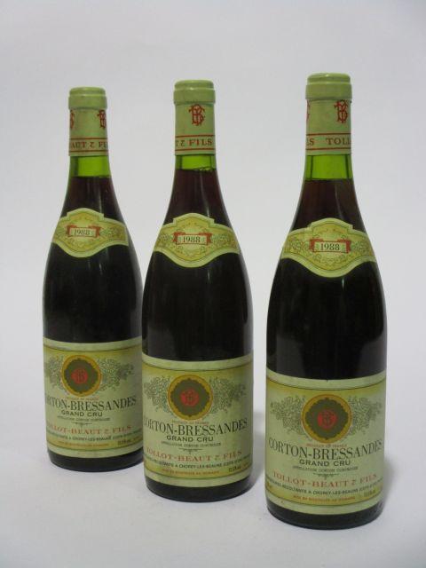 5 bouteilles CORTON BRESSANDES 1988 Grand Cru