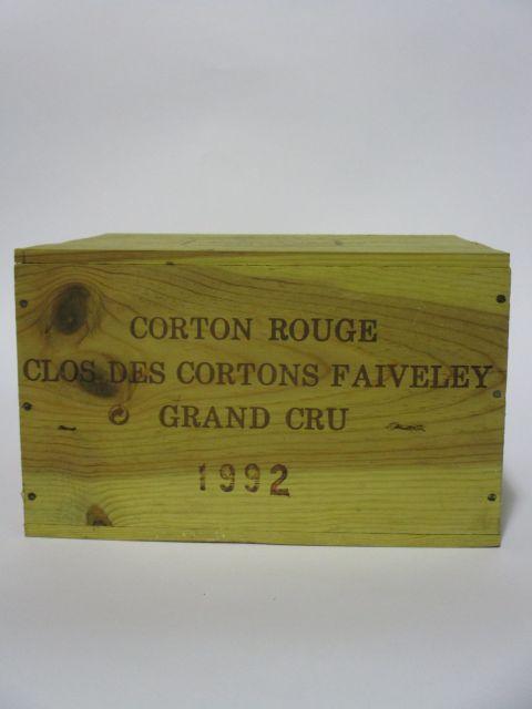6 bouteilles CORTON CLOS DES CORTONS 1992 Grand Cru