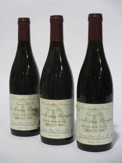 6 bouteilles CORTON POUGETS 1998 Grand Cru