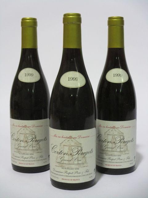 6 bouteilles CORTON POUGETS 1999 Grand Cru