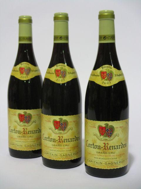 6 bouteilles CORTON RENARDES 2005 Grand Cru