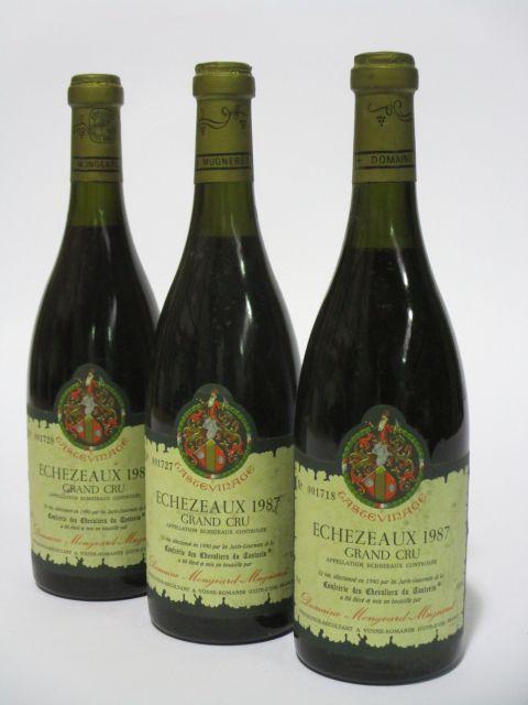6 bouteilles ECHEZEAUX 1987 Grand Cru