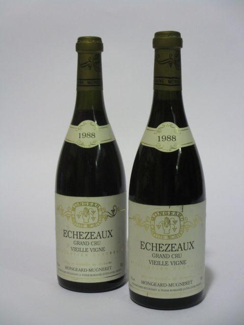2 bouteilles ECHEZEAUX 1988 Grand Cru