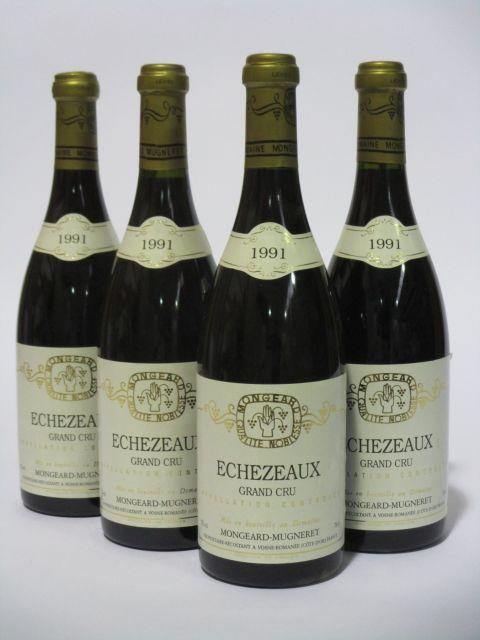 4 bouteilles ECHEZEAUX 1991 Grand Cru