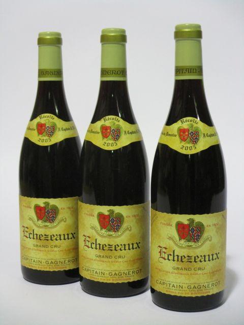 6 bouteilles ECHEZEAUX 2005 Grand Cru