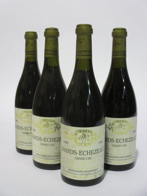 4 bouteilles GRANDS ECHEZEAUX 1988 Grand Cru