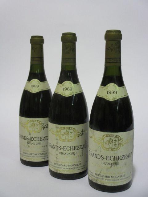 3 bouteilles GRANDS ECHEZEAUX 1989 Grand Cru