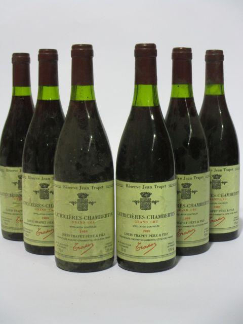 6 bouteilles LATRICIERES CHAMBERTIN 1989 Grand Cru