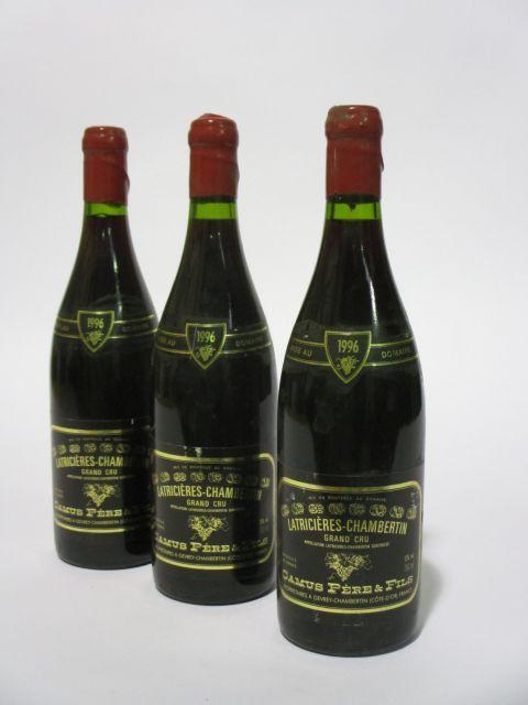 10 bouteilles LATRICIERES CHAMBERTIN 1996 Grand Cru