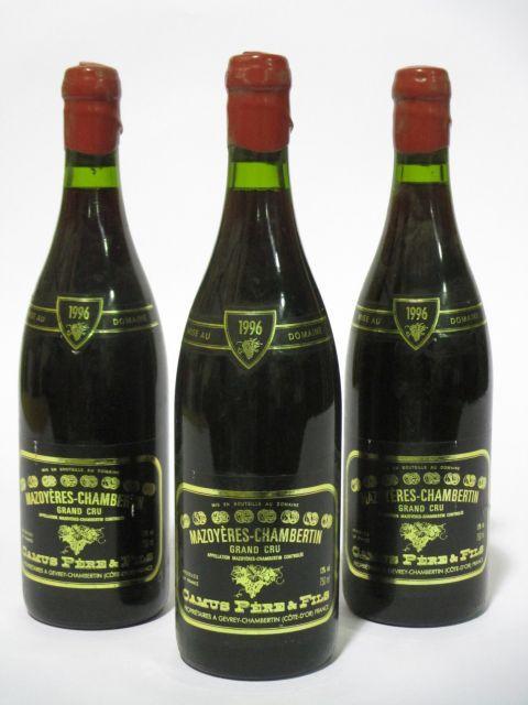 10 bouteilles MAZOYERES CHAMBERTIN 1996 Grand Cru