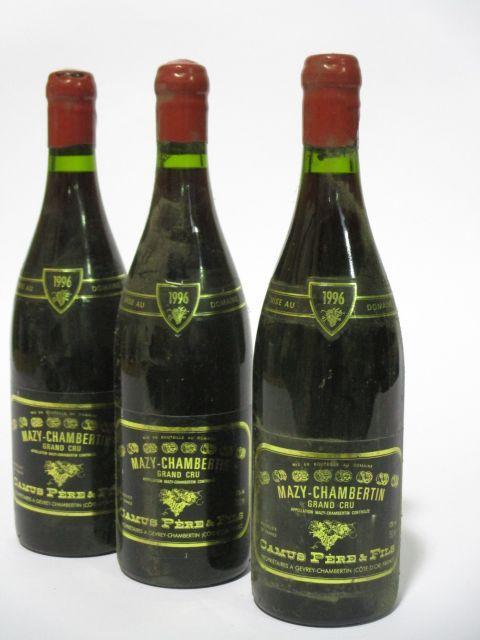 10 bouteilles MAZY CHAMBERTIN 1996 Grand Cru