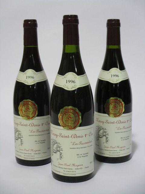 12 bouteilles MOREY SAINT DENIS 1996 1er cru Les Faconnières
