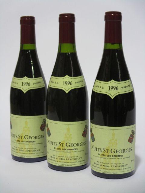 6 bouteilles NUITS SAINT GEORGES 1996 1er cru Les Damodes