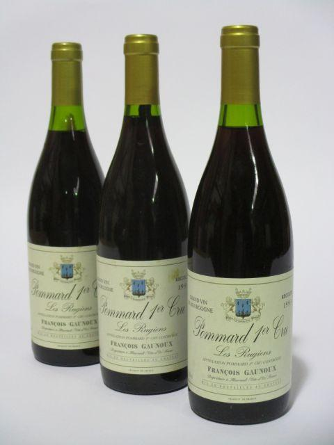 6 bouteilles POMMARD 1993 1er cru Les Rugiens