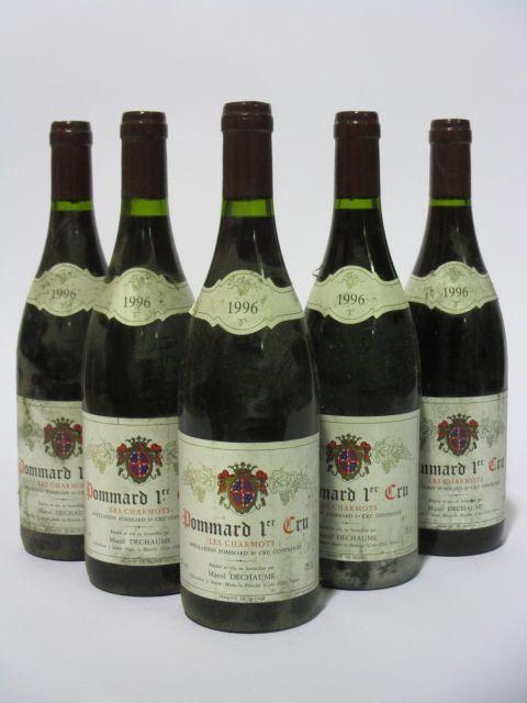 5 bouteilles POMMARD 1996 1er cru Les Charmots
