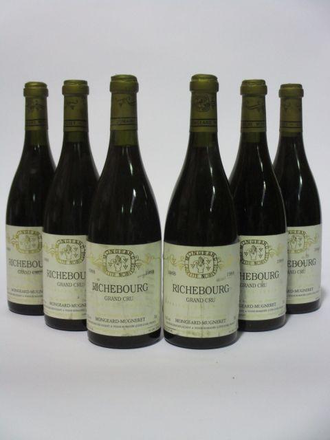 6 bouteilles RICHEBOURG 1988 Grand Cru