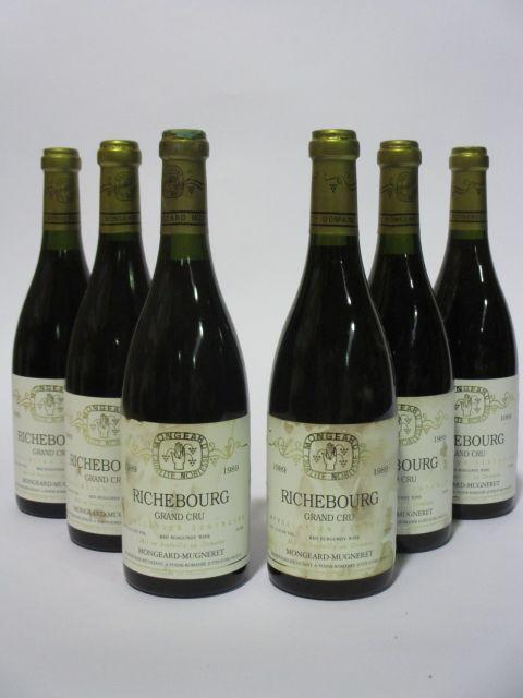 6 bouteilles RICHEBOURG 1989 Grand Cru