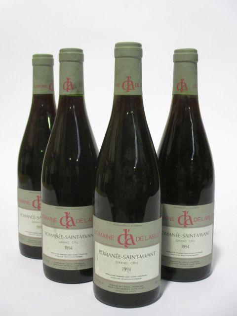 4 bouteilles ROMANEE SAINT VIVANT 1994 Grand Cru