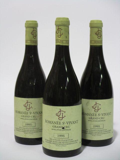 3 bouteilles ROMANEE SAINT VIVANT 1995 Grand Cru