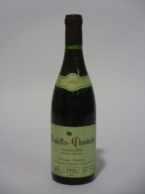 1 bouteille RUCHOTTES CHAMBERTIN 1992 Grand Cru