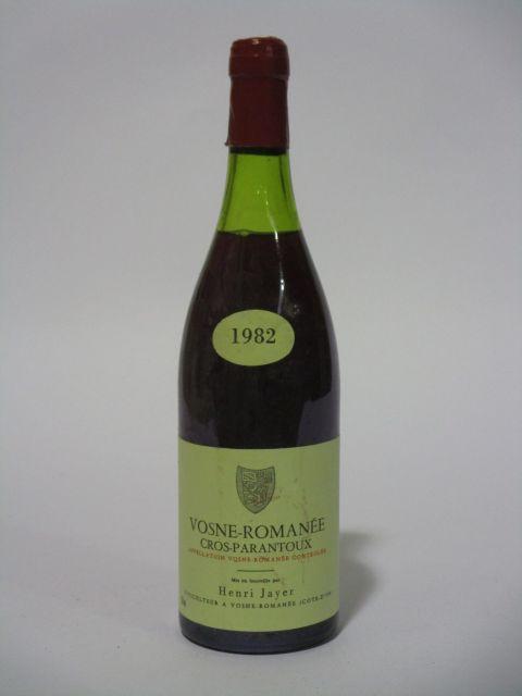 1 bouteille VOSNE ROMANEE 1982 1er cru Cros Parantoux