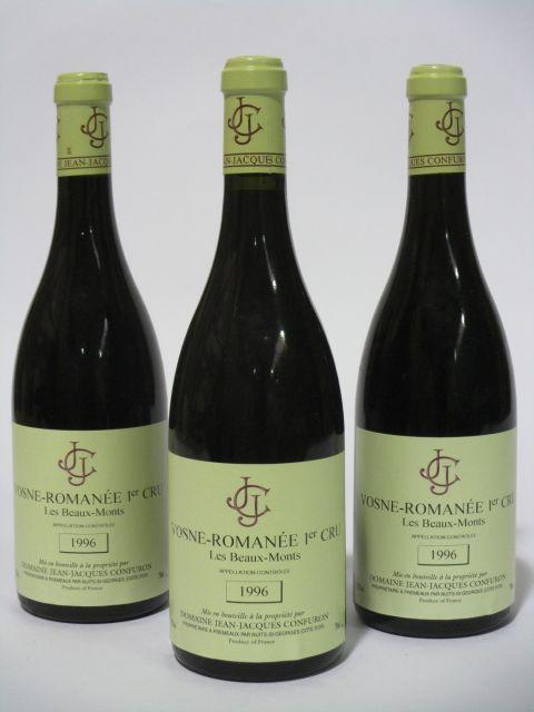 6 bouteilles VOSNE ROMANEE 1996 1er cru Les Beaux Monts