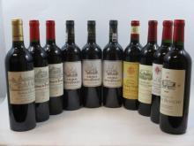 10 bouteilles  1 bt : CHÂTEAU BARBE BLANCHE 2009 Saint Emilion 1 bt : CHÂTEAU DE PRESSAC 2009 Saint Emilion 1 bt : CHÂTEAU DE PR...