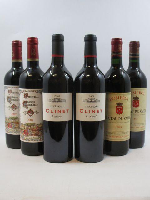 6 bouteilles 1 bt : CHÂTEAU CANTELAUZE 2011 Pomerol