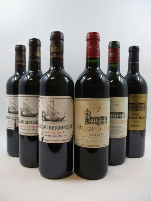 8 bouteilles 1 bt : CHÂTEAU CANTENAC BROWN 2010 3è GC Margaux 1 bt : CHÂTEAU GISCOURS 2000 3è GC Margaux 1 bt : CHÂTEAU BEYCHEV...