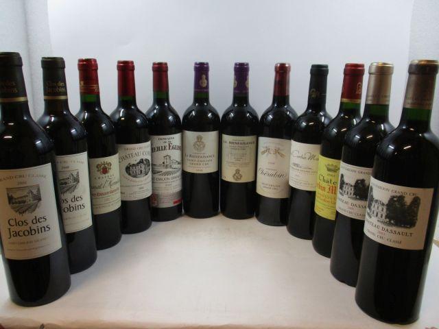 12 bouteilles 1 bt : CHÂTEAU CHERUBIN 2006 GC Saint Emilion