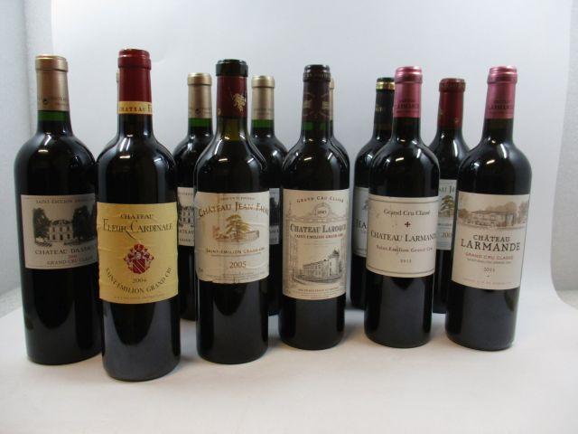 12 bouteilles 1 bt : CHÂTEAU DASSAULT 2003 GC Saint Emilion 1 bt : CHÂTEAU DASSAULT 2004 GC Saint Emilion 1 bt : CHÂTEAU DASSAU...
