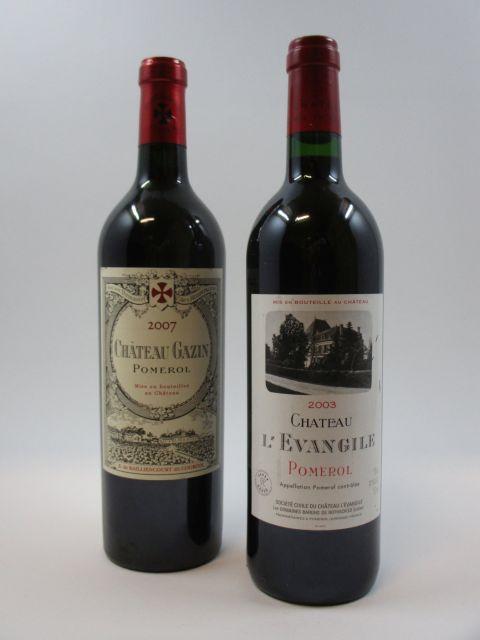 2 bouteilles 1 bt : CHÂTEAU GAZIN 2007 Pomerol