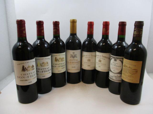 8 bouteilles 1 bt : CHÂTEAU L'ARROSEE 2000 GCC Saint Emilion