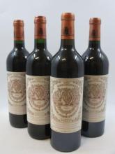 4 bouteilles 1 bt : CHÂTEAU PICHON LONGUEVILLE BARON 1996 2è GC Pauillac