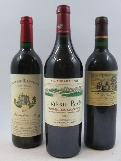 7 bouteilles 3 bts : CHÂTEAU LANESSAN 1997 CB Haut Médoc