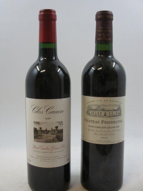 12 bouteilles 6 bts : CHÂTEAU FOMBRAUGE 2001 GC Saint Emilion