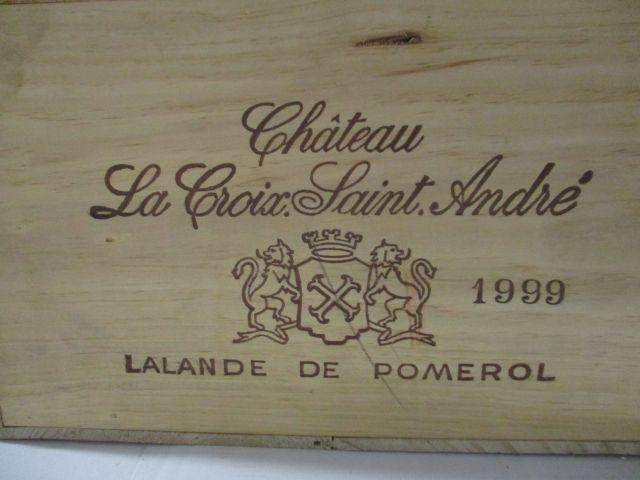 6 magnums CHÂTEAU LA CROIX SAINT ANDRE 1999 Lalande de Pomerol Caisse bois d'origine (cave 1)