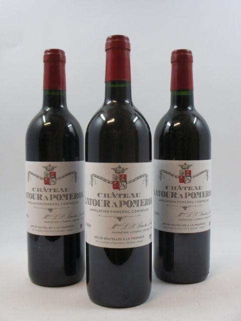 12 bouteilles CHÂTEAU LATOUR A POMEROL 1999 Pomerol  (cave 1)