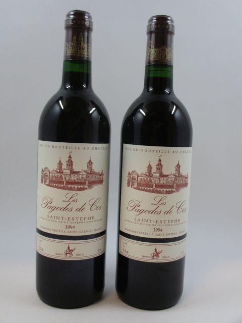 11 bouteilles LES PAGODES DE COS 1994 Saint Estèphe